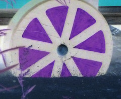 and all the wheels of misfortune (DREASAN) Tags: abstraction inversion wheel wood dreasanpics geometry