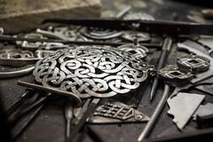Celtic art in progress (loddeur) Tags: ireland dublin detail art museum silver pattern kunst craft jewellery celtic gaelic newgrange sieraad ierland