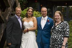 Bruidspaar met getuigen