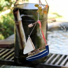 flying boat (overthemoon) Tags: fountain architecture toy schweiz switzerland boat suisse courtyard medieval hanging tearoom svizzera wateringcan vaud arrosoir romandie romainmtier leprieur