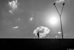 Contre-jour (pi3rreo) Tags: urban sun abstract paris soleil noiretblanc jour human fujifilm minimalism bibliothèque contre urbain abstrait mitterrand minimalisme xe2