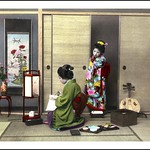 MAIKO WATCHING A GEISHA WRITING A LOVE LETTER thumbnail