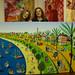 רפי פרץ ציור נאיבי מחווה לצייר נחום גוטמן raphael perez paint after nachum gutman תל אביב הישנה שנות העשרים