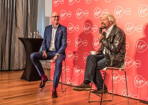 RICHARD BRANSON INTRODUCES VIRGIN MEDIA TO THE PRESS [1st. October 2015] REF-10858513