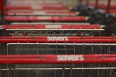 Savers - Thrift Shopping (beeatriceho) Tags: trip red halloween fashion shop shopping photo journal frugal thrift savers shopper