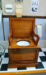 The Throne (helenoftheways) Tags: uk london wooden backintheday lavatory toilets throne toiletrolls crossnessmuseum