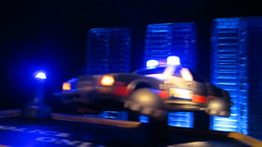 Corgi Toys Buick (Century) Regal Police Car No. 416 Converted Into A Futuristic Sci-Fi Hover Car : Diorama A Hover Police Car City Scene - 7 Of 98 (Kelvin64) Tags: city car century toys buick corgi no police scene scifi converted futuristic regal diorama hover 416 a into