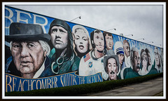 """Beachcomber Salutes the Legends of the Millennium"" - Surrey, BC (SonjaPetersonPh♡tography) Tags: canada building art heritage history artwork mural artist factory britishcolumbia paintings murals surrey legends manufacturer hottubs terryfox 2015 famousfaces warehousing famouspersonalities paulygartua nikonafs55300mmf4556gedvr nikond5200 beachcomberorganization beachcombersalutesthemillennium salutetotherecordbreakers keithandjudyscott"