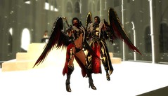 Infernal Armor set3 (Topa Adamski) Tags: world red game set wings medieval fantasy secondlife virtual armor knight warrior mage infernal roleplay zbrush platemail