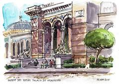 Palacio de Velazquez (P.Barahona) Tags: madrid arquitectura urbano pluma retiro acuarelas urbansketcher