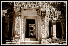 Angkor Thom - the doorway (calamur) Tags: architecture cambodia buddhist religion temples siemreap buddhisttemple angkorthom harinicalamur nikond7000