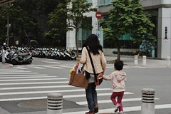 台北街頭 Taipei street (knottedjane) Tags: street city family urban love mom kid child taiwan taipei holdhands