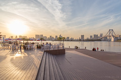 Sunset at Odaiba Beach - Japan 2015