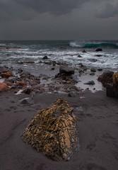 Rocky Beach (bjorbrei) Tags: ocean sea beach water rock coast spain sand rocks waves stones shore seashore canaryislands lagomera playadelingles vallegranrey
