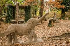 Elephant in a Rock Garden (in Explore) (frank thompson photos) Tags: elephant nikon explore kansas rockgarden sculpturestatue d7000 elkfallskansas yardartinstallationart