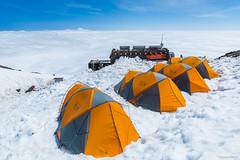 Another World (Daniel [Zilcsak]) Tags: camp cloud mountain snow tents adams climbing hut blanket rainier climber muir