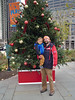 Christmas tree father and son