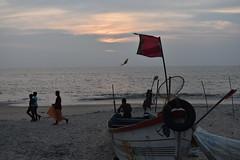 Seamen (yellaw travel) Tags: kerala india inde alleppey seamen marins marin pêcheur pêcheurs boat bateau flag drapeau beach plage sea mer