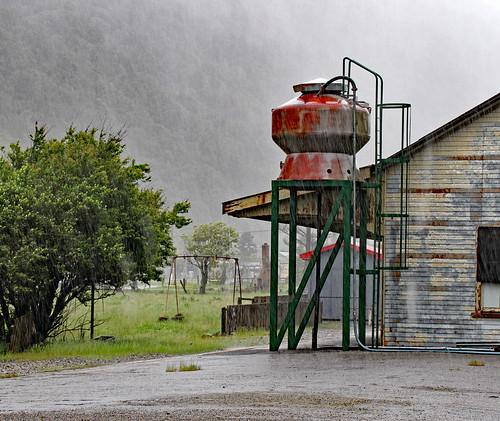 Rain Stop waiting to enter the Otira Tunnel