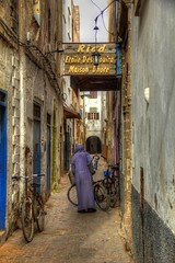 The Riad in the Alley (David K. Edwards) Tags: rating riad hotel rooming alley alleyway bicycle narrow moroc morocco mogador rooms boarding street djellaba