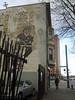 BICYCLE MURAL - Albany, NY (rik-shaw) Tags: bicycle mural fadingmural albany henryjohnson streetart sidewalk blekky blekkyschorr townsendapartments upstate newyork albanyny pedestrian city capitalcities uscapitals statecapitals washingtonpark flickr rikshaw canong5x powershot