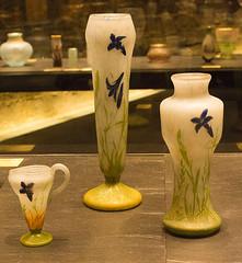 Trio of blue flowers (phillipbonsai) Tags: nancy artnouveau daum glass france daumcrystalcollection muséedesbeauxartsdenancy