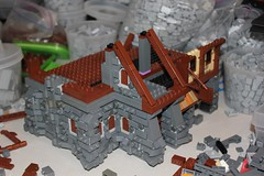 Sigurd's General Goods: Build Log (soccersnyderi) Tags: lego moc creation building model build log process walkthrough wip stone medieval wood tudor technique design method skyrim bitsandpieces recreation
