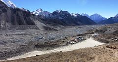 Blick zur Khumbu Glcier Moräne und Gorak Shep (gm@rc) Tags: moräne