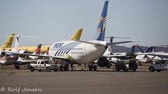XA-MAE Boeing 737-200 Magnicharters Kingman airport KIGM 11.11-16 (rjonsen) Tags: airplane aircraft plane scrapyard partout scrap damaged flying machines