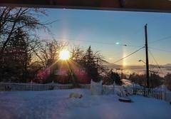 Sundogs - This Morning Over Lake Ewauna (ex_magician) Tags: sundogs sundog lakeewauna sunrise lightroom adobe adobelightroom frontporch frontyard stoop porch klamathfalls oregon moik