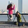 Shanghai - Fisheye Fun (cnmark) Tags: china shanghai huangpu district bund morning fun fisheye action canon couple photographer taking picture photographing model jump jumping 中国 上海 外滩 ©allrightsreserved