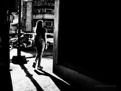 Nike Girl (Meljoe San Diego) Tags: meljoesandiego ricoh ricohgr gr streetphotography street people candid blackwhite