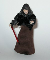 VC12 darth sidious star wars the vintage collection revenge of the sith hasbro 2010 i (tjparkside) Tags: vc12 darth sidious vc tvc 12 twelve star wars vintage collection episode 3 iii three rots revenge sith palpatine senator september 2010 wave 2 lightsaber red force lightning removable hood soft goods stole skirt yoda mace windu duel robe robes vest blue action figure figures hasbro