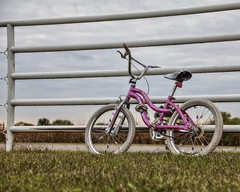 Left in the Rain (A Anderson Photography, over 1.5 million views) Tags: bicycle canon pink pipe pipefence
