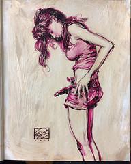 Full version of the Collector's Edition Drawing I posted... (Dorian Vallejo) Tags: art fine drawing figure mixed media drawings oil painting dorian vallejo