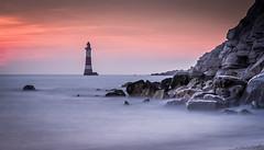 Beachy Head Lighthouse (Nathan J Hammonds) Tags: sunset nikon beach lighthouse beachy head nd 10stop sea rocks hdr wet feet d750
