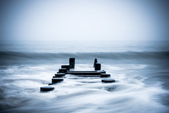 Staring Into The Yonder. Rehoboth, Del. (Jan. 21, 2017) (Thomas Cluderay) Tags: rehobothbeach delaware beach coast mist ocean waves pier minimalism photography landscape longexposure