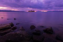 sunset 2196 (junjiaoyama) Tags: japan sunset sky light cloud weather landscape purple colour lake island water nature winter