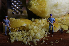 It's A-Peeling To Me - Macro Mondays (Crisp-13) Tags: itsapeelingtome macromondays its apeeling to me macro mondays lemon peel grater grated ho figures small faller little people