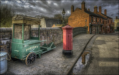 The Bridge to Town (Darwinsgift) Tags: bclm black country living museum dudley west midlands england hdr bridge town vintage antique red brick post box photomatix pce nikkor 24mm f35 d ed nikon d810 ngc flickr tilt shift