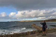 England 331 Sennen cove (Pixelkids) Tags: sennencove cornwall cornishcoast uk england beacg strand meer regenbogen rainbow clouds