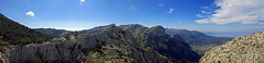 hiking on GR 221 (Simple_Sight) Tags: mallorca outdoors mountains trail rocks sky clouds trees landscape panorama gr221 hiking
