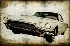 Tbird grunge (madmtbmax) Tags: ford thunderbird 1965 65 grunge old classic car auto vehicle automobile retro framed background art artistic chrome v8 american us usa tbird flatbird vintage antique flair bird