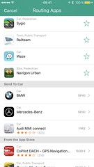 Send-to-Car Apps in Where To?