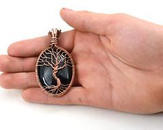Black Onyx Tree-Of-Life Pendant (LeeMarina) Tags: copperjewelry copperpendant gemstonependant handmadejewelry metalwork marinalee treeoflife tree
