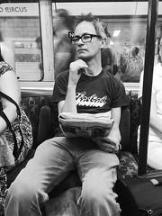 Free thinking at Oxford Circus (IanAWood) Tags: candid londonunderground thetube peoplewatching tfl londonlife mobilephotos transportforlondon bakerlooline bwlondon seenonmytravels androidphotography notwalkingwithmynikon cameraphonephotographer htconem8 humansoflondon