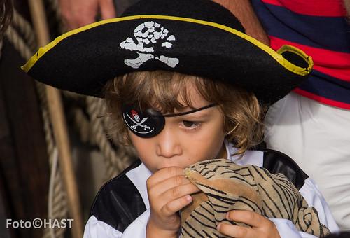 Zelfs jonge piraten kwamen naar dit prachtige schip