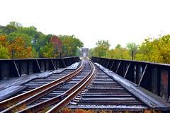 (misskeelab) Tags: railroad autumn fall virginia downtown cloudy traintracks tracks richmond rva railroadtracks