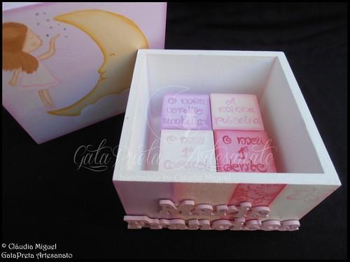 """Caixa de recordações de bebé """"Beijinho de Boa Noite"""""""