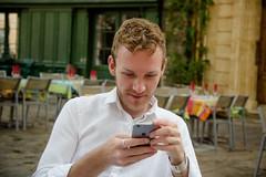 Adam (Topher Graham) Tags: portrait man france cellphone aixenprovence mobilephone southoffrance iphone